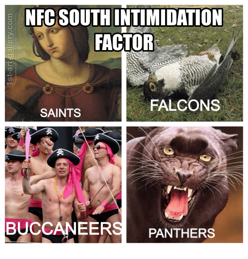 nfc south intimidation factor falcons saints buccaneer panthers 18149055 ✅ 25 best memes about intimidation intimidation memes