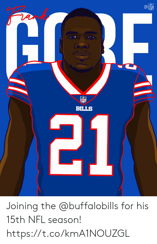 Memes, Nfl, and Bills: NFL  BILLS Joining the @buffalobills for his 15th NFL season! https://t.co/kmA1NOUZGL