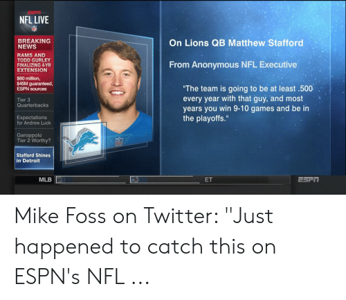 NFL LIVE BREAKING NEWS on Lions QB Matthew Stafford RAMS AND TODD