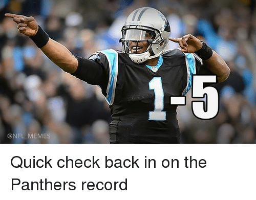 Nfl, Panthers, and Record: @NFL MEMES  1.5 Quick check back in on the Panthers record