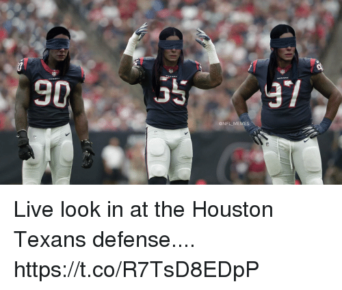 Football, Memes, and Nfl: @NFL MEMES Live look in at the Houston Texans defense.... https://t.co/R7TsD8EDpP