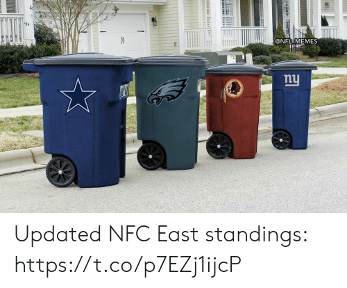 Football, Memes, and Nfl: @NFL MEMES  nu  ট। Updated NFC East standings: https://t.co/p7EZj1ijcP
