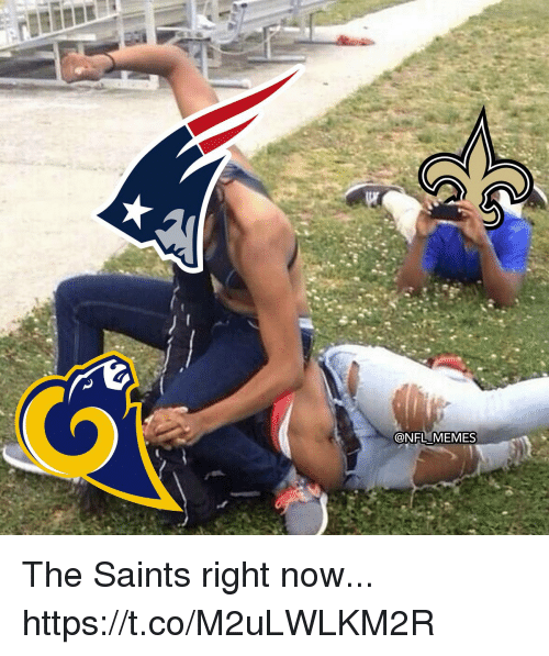 Football, Memes, and Nfl: @NFL MEMES The Saints right now... https://t.co/M2uLWLKM2R