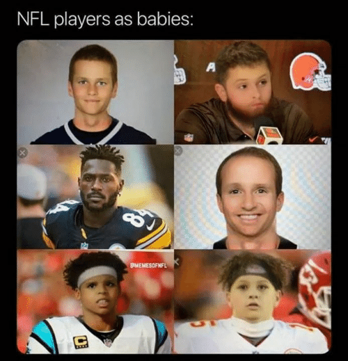 Memes, Nfl, and 🤖: NFL players as babies:  PMEMESOFNFL