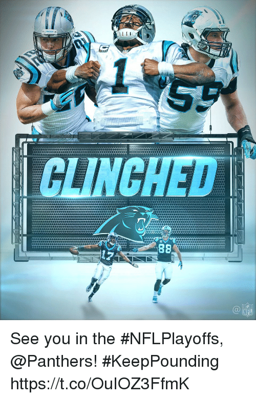 Memes, Nfl, and Panthers: NFL See you in the #NFLPlayoffs, @Panthers! #KeepPounding https://t.co/OuIOZ3FfmK