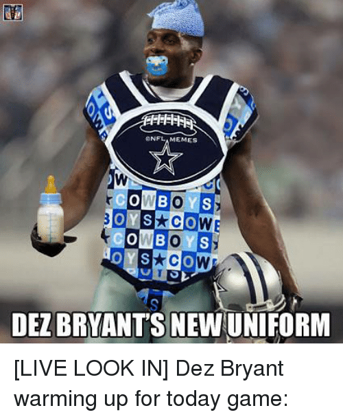 Nflamemes Cowbo Onb Co Dezbryants Newuniform Live Look In