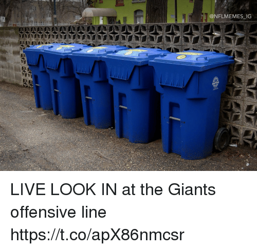 Football, Nfl, and Sports: @NFLMEMES IG LIVE LOOK IN at the Giants offensive line https://t.co/apX86nmcsr