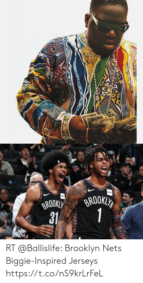 new style dff8a 97c63 Nfor Nfor 31 RT Brooklyn Nets Biggie-Inspired Jerseys ...