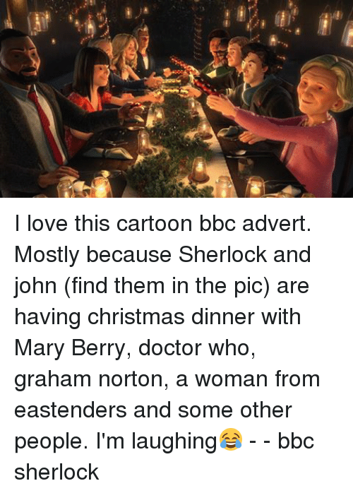 christmas doctor and eastenders ng i love this cartoon bbc advert - Christmas Dinner Blessings