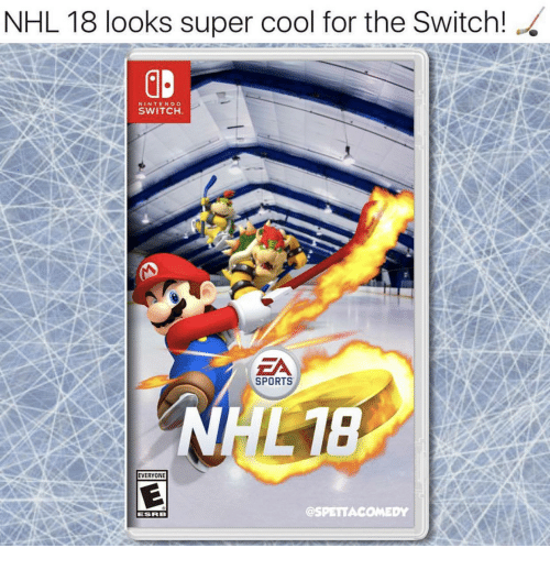 Nhl 18 Looks Super Cool For The Switch Nintendo Switch Za Sports し