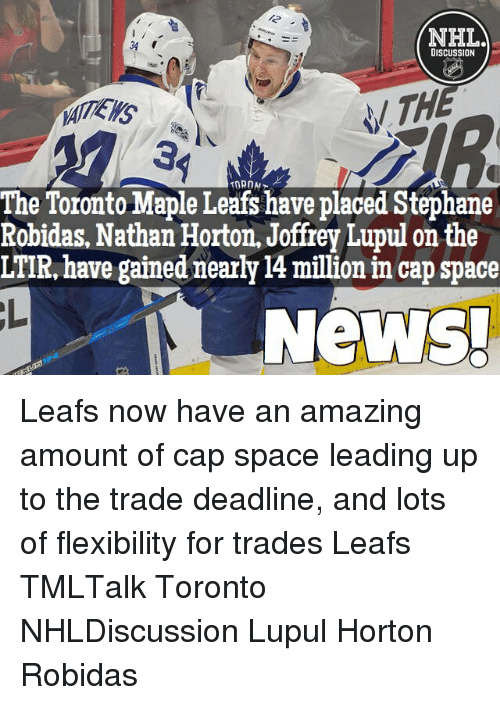 NHL 34 DISCUSSION the Toronto Maple Leafs Have Placed Stephane ... 16c23aa43c0