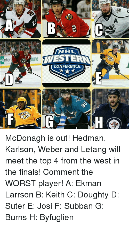 Nhl Conference Mcdonagh Is Out Hedman Karlson Weber And Letang Will