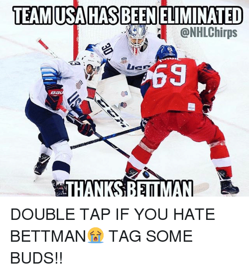 Memes, 🤖, and Double: @NHLChirps  69  B6  THANKS BETMAN DOUBLE TAP IF YOU HATE BETTMAN😭 TAG SOME BUDS!!