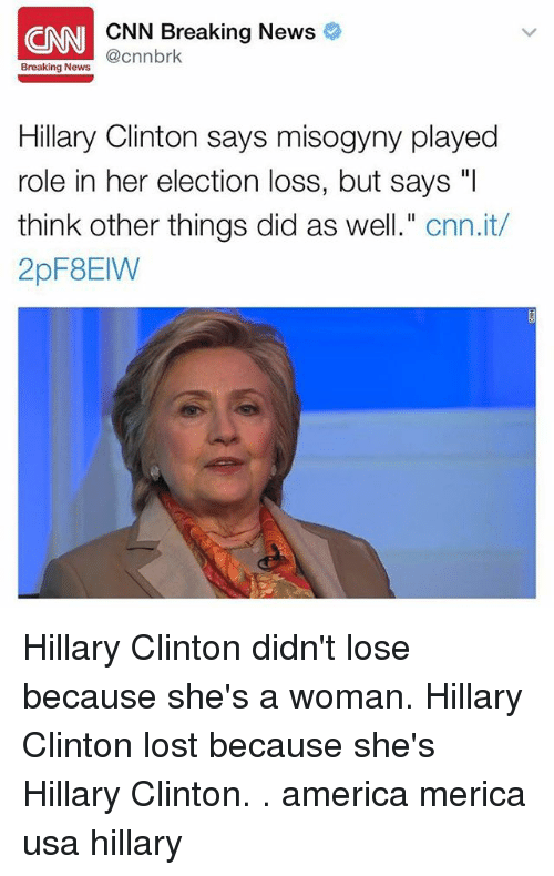ni cnn breaking news cnnbrk breaking news hillary clinton says 20381451 ✅ 25 best memes about clinton lost clinton lost memes