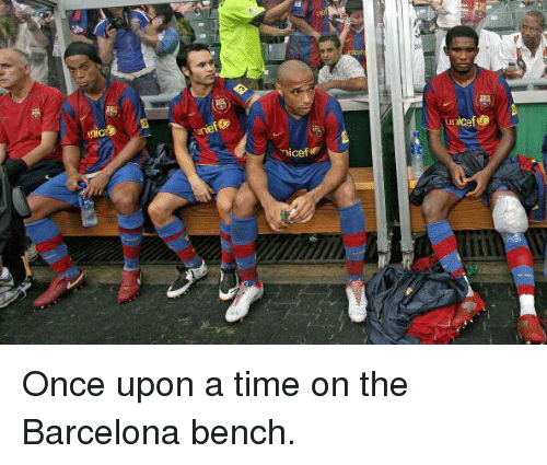 1ae4e09d16 Nicef Unicef Once Upon a Time on the Barcelona Bench