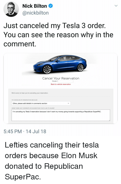 Nick Bilton Just Canceled My Tesla 3 Order You Can See the