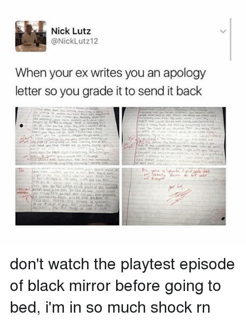 Nick Lutz When Your Ex Writes You an Apology Letter So You Grade It