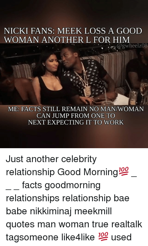 Nicki Fans Meek Loss A Good Woman Another L For Him Me Facts Still