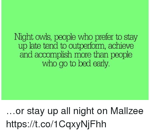 how to stay up all night and day