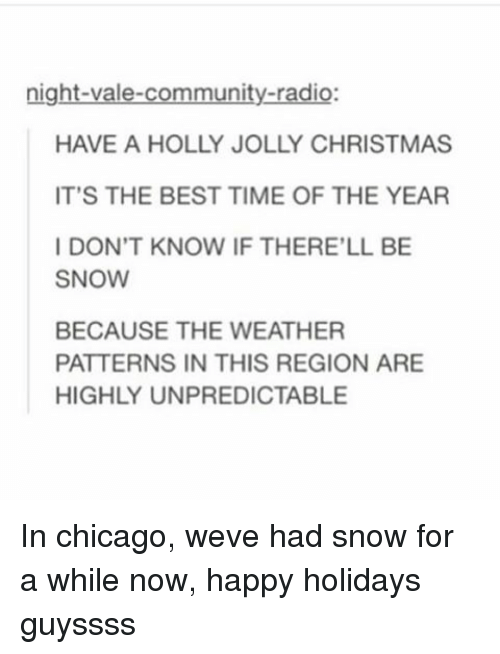 Chicago Meme: Night-Vale-Community-Radio HAVE a HOLLY JOLLY ...