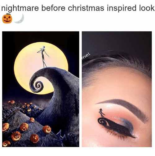 Nightmare Before Christmas Memes Funny.Nightmare Before Christmas Inspired Look Christmas Meme On