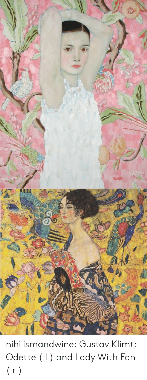 Tumblr, Blog, and Http: nihilismandwine: Gustav Klimt; Odette ( l ) and Lady With Fan ( r )