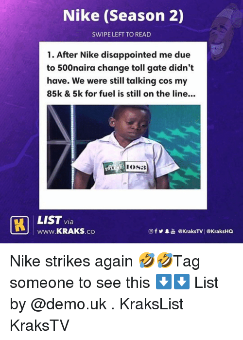 b6a1e9a8c61 Nike Season 2 SWIPE LEFT TO READ 1 After Nike Disappointed Me Due to ...