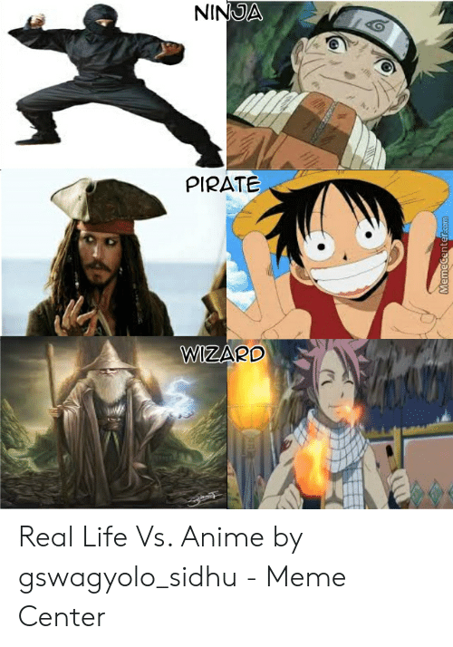 real vs anime