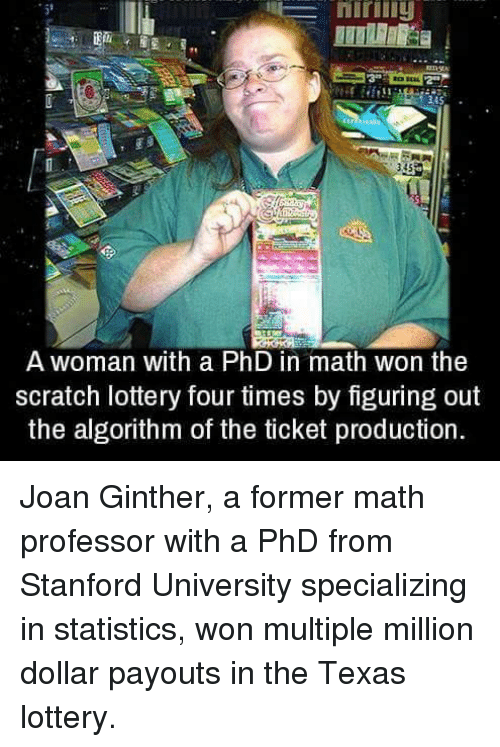 Were Joan Ginther Stanford Thesis the