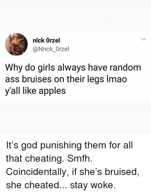 Girl bruised by dick pic