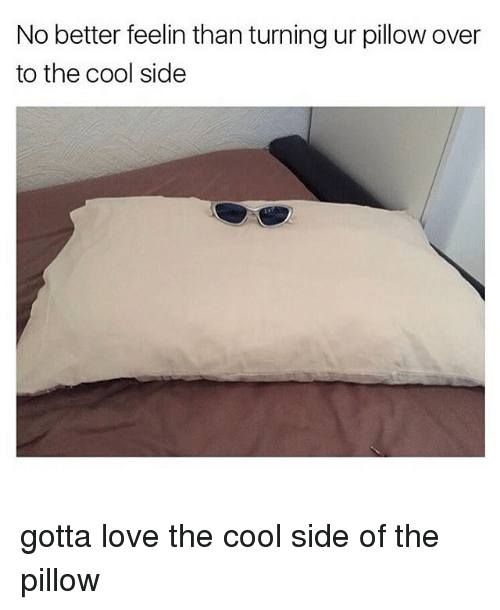 Seeking The Cool Side of the Pillow