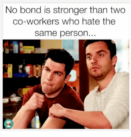 No Bond Is Stronger Than Two Co-Workers Who Hate the Same