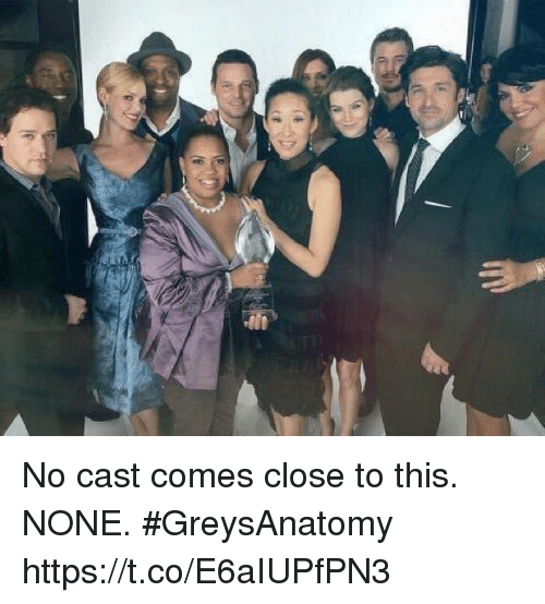 Memes, Casted, and 🤖: No cast comes close to this. NONE. #GreysAnatomy https://t.co/E6aIUPfPN3