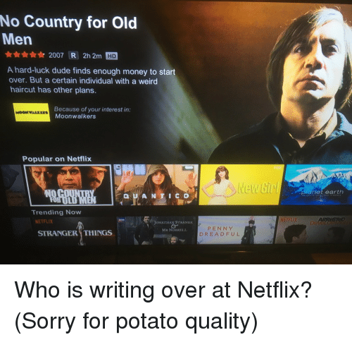 No Country For Old Men R 2007 R 2h 2m Hd A Hard Luck Dude Finds