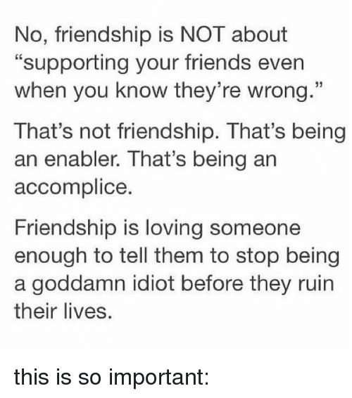 one sided friendship