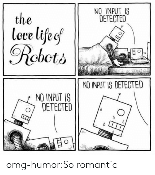 Omg, Tumblr, and Blog: NO INPUT IS  DETECTED  the  leve lifeef  Rcbcti  NO INPUT IS DETECTED  NO INPUT IS  o DETECTED omg-humor:So romantic