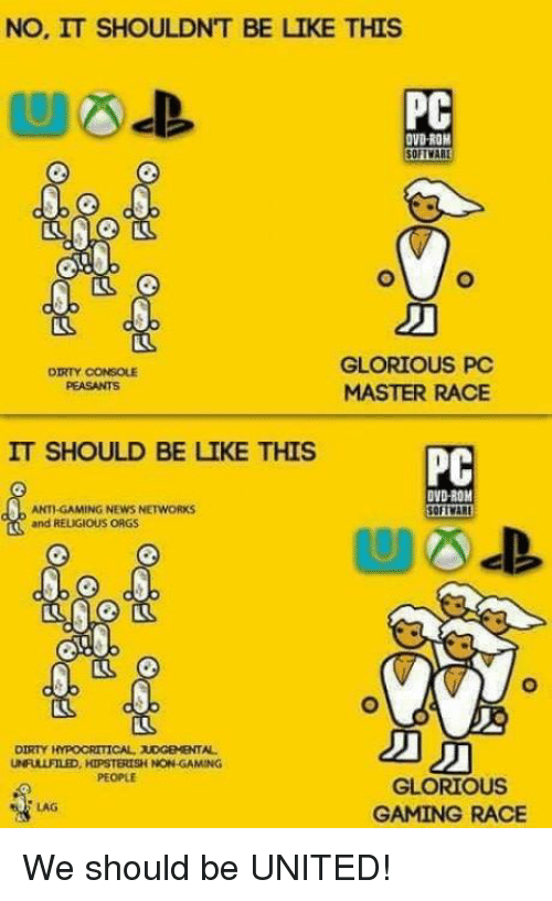 no it shouldnt be like this pc ovdrom glorious pc 12627592 ✅ 25 best memes about glorious pc master race glorious pc,Pc Master Race Meme