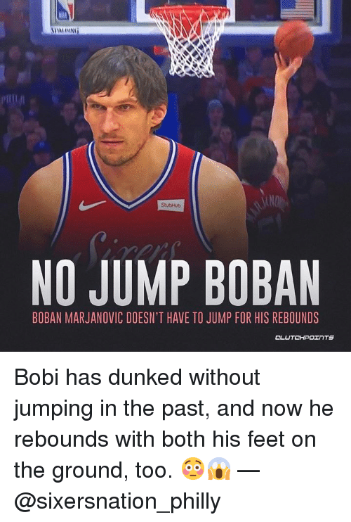 NO JUMP BOBAN BOBAN MARJANOVIC DOESN T HAVE TO JUMP FOR HIS REBOUNDS ... c759ca196