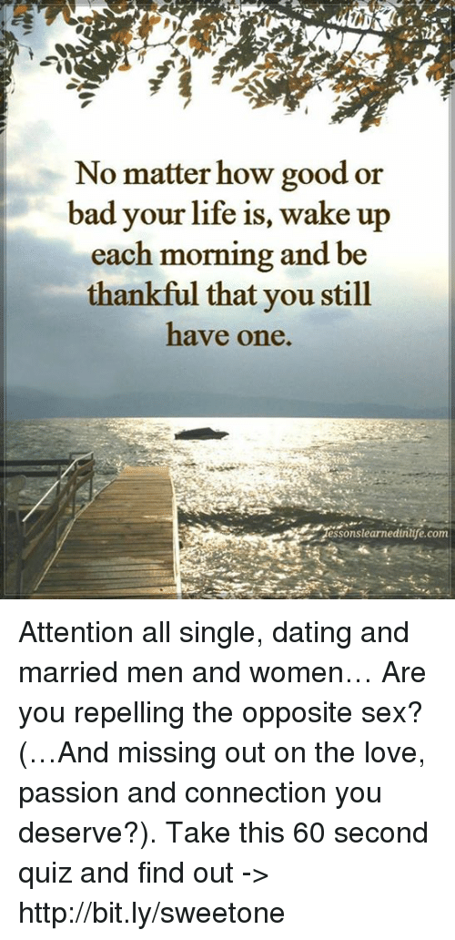 dating a married man good or bad