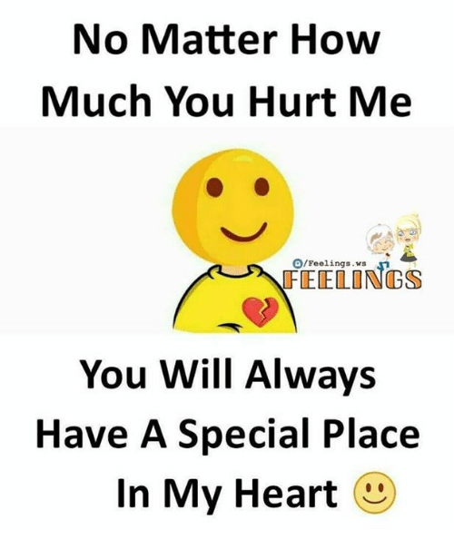 Memes, Heart, and 🤖: No Matter How  Much You Hurt Me  O/Feelings  FEELINGS  You Will Always  Have A Special Place  In My Heart
