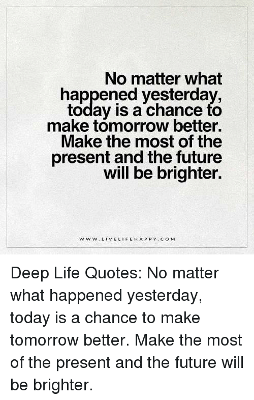 No Matter What Happened Yesterday Today Is A Chance To Make Tomorrow