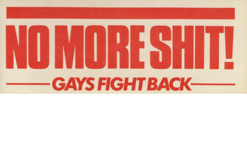 Gays and  No: NO MORESHIT  GAYS FIGHTBACK