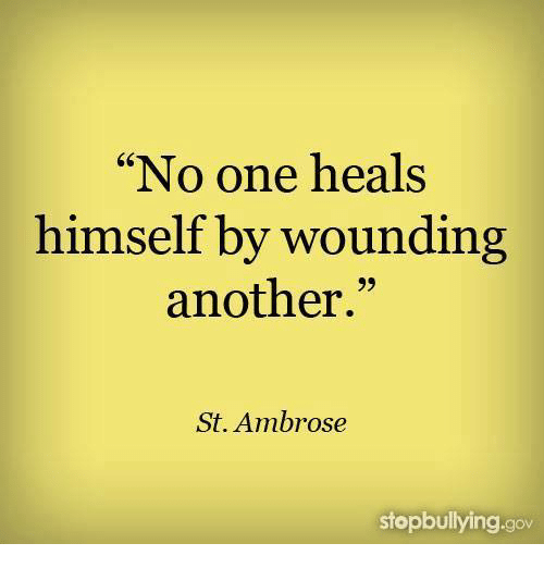 No One Heals Himself By Wounding Another St Ambrose