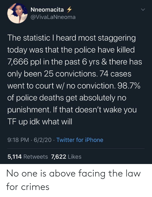 One, Law, and For: No one is above facing the law for crimes