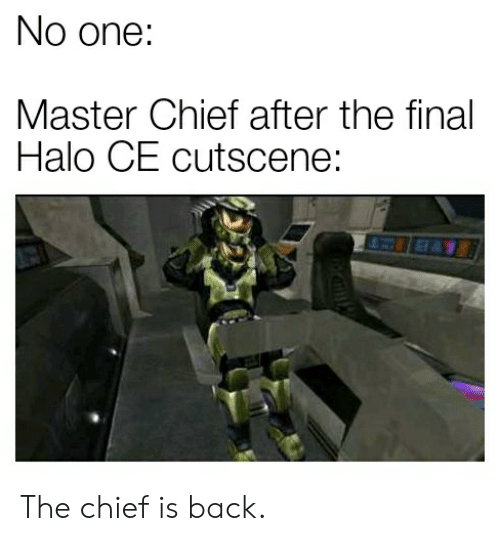 No One Master Chief After the Final Halo CE Cutscene EL the Chief Is