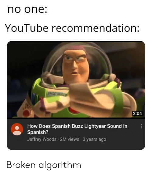 No One YouTube Recommendation SPACE BNGE 204 How Does