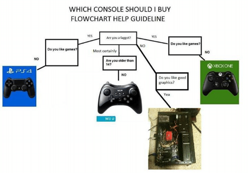 NO PUA WHICH CONSOLE SHOULD I BUY FLOWCHART HELP GUIDELINE YES Are