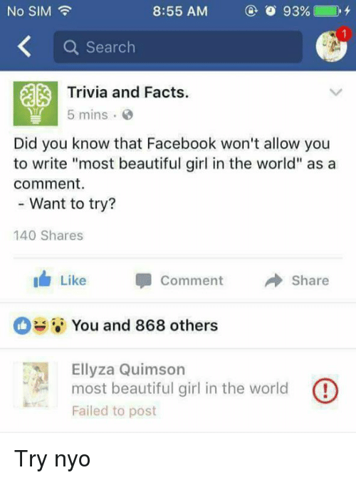 No Sim Q Search Trivia And Facts 5 Mins C Did You Know That Facebook