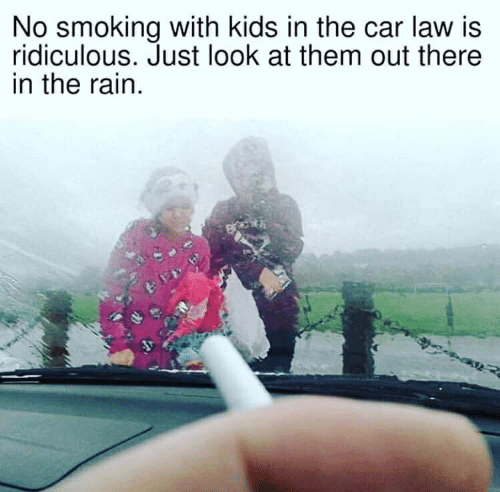 No Smoking With Kids in the Car Law Is Ridiculous Just Look