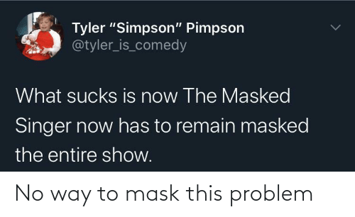 Mask, This, and Problem: No way to mask this problem